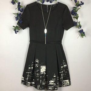 ELIE TAHARI CITY SCAPES Black Dress Size 8
